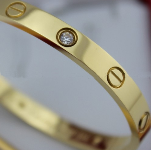 Replica Cartier Love Bracelet Yellow Gold with Diamonds and Screwdriver