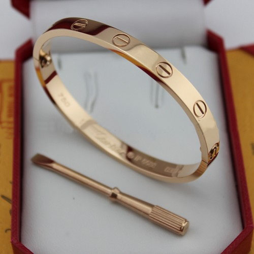 Replica Cartier Love Bracelet Pink Gold with Screwdriver