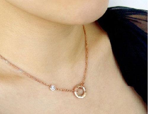 Cartier gold plated diamond love pendant necklace aloadofball Choice Image